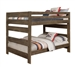 Wrangle Hill Full Over Full Bunk Bed in Gun Smoke Finish by Coaster - 400833