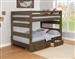 Wrangle Hill Full Over Full Bunk Bed 2 Piece Set in Gun Smoke Finish by Coaster - 400833-S
