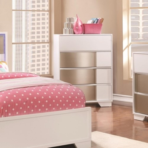 Havering Youth Bedroom Set in Blanco and Sterling Finish by Coaster ...