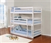 Sandler Triple Twin Bunk Bed in White Finish by Coaster - 401302