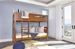 Livermore Twin Twin Bunk Bed in Walnut Finish by Coaster - 401663