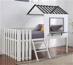 Timber Loft Bed in White and Gunmetal Finish by Coaster - 409464T
