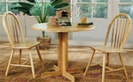 Country 3 Piece Dining Set in Natural Finish by Coaster - 4137
