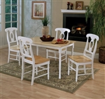 Country Windsor Chair 5 Piece Dining Set in Two Tone Finish by Coaster - 4147