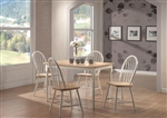 Country 5 Piece Dining Set in Two Tone Finish by Coaster - 4147-W