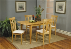 5 Piece Butterfly Leaf Dining Set in Maple Finish by Coaster - 4267