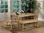 6 Piece Windsor Dining Set in Natural Finish by Coaster - 4361
