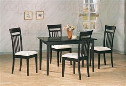 5 Piece Dining Set in Dark Cappuccino Finish by Coaster - 4430