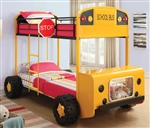 School Bus Bunk Bed Twin Twin by Coaster - 460011