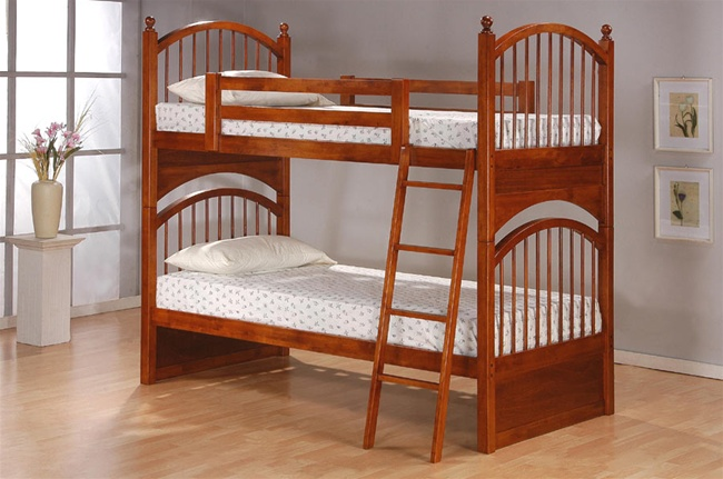 4 Piece Canyon Ridge Collection Bedroom Furniture Set with Bunk Bed in  Distressed Oak Finish by Coaster - 460013