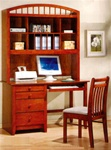 Canyon Ridge Collection Bedroom Furniture Computer Desk with Hutch in Distressed Oak Finish by Coaster - 460017