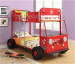 Fire Rescue Bunk Bed Twin Twin by Coaster - 460026
