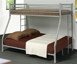 Twin/Full Bunk Bed in Silver Finish by Coaster - 460062