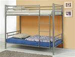 Twin/Twin Bunk Bed in Silver Metal Finish by Coaster - 460072