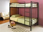 Twin/Twin Bunk Bed in Black Metal Finish by Coaster - 460072B