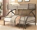 Twin Full Bunk Bed in Gunmetal and Silver Finish by Coaster - 460079