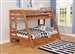 Wrangle Hill Twin Over Full Bunk Bed 2 Piece Set in Amber Wash Finish by Coaster - 460093-S