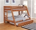 Wrangle Hill Twin Over Full Bunk Bed 2 Piece Set in Amber Wash Finish by Coaster - 460093-T