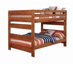 Wrangle Hill Full Over Full Bunk Bed in Amber Wash Finish by Coaster - 460096