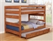 Wrangle Hill Full Over Full Bunk Bed 2 Piece Set in Amber Wash Finish by Coaster - 460096-T