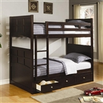 Jasper Twin/Twin Bunk Bed in Rich Cappuccino Finish by Coaster - 460136