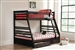 Storage Twin Full Bunk Bed in Cappuccino Finish by Coaster - 460184