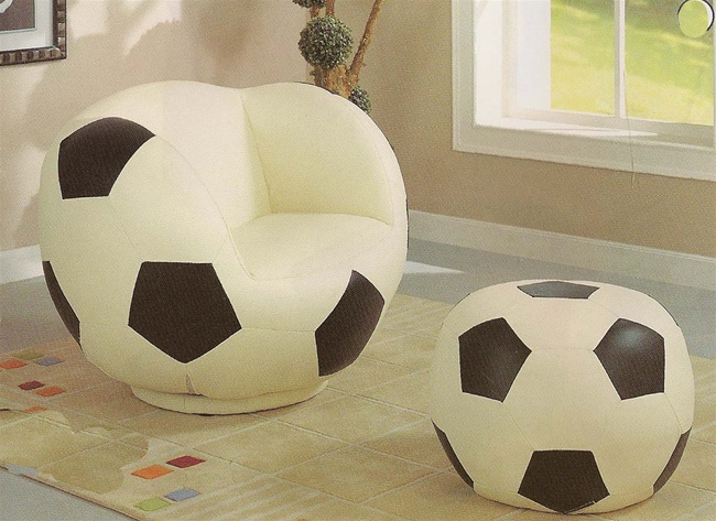 Phenomenal All Star Soccerball Chair Ottoman By Coaster 460188 Pdpeps Interior Chair Design Pdpepsorg