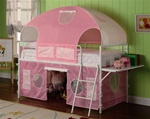 Pink Tent Bunk Bed by Coaster - 460202
