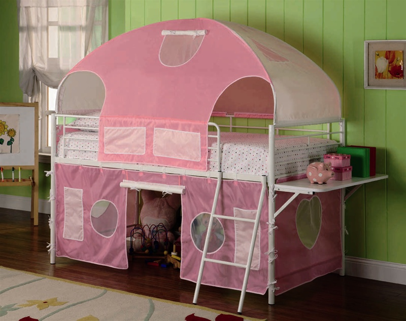 Pink Tent Bunk Bed by Coaster - 460202 & Tent Bunk Bed by Coaster - 460202