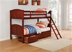 Parker Twin Twin Bunk Bed in Chestnut Finish by Coaster - 460213