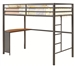 Twin Metal Workstation Loft Bed by Coaster - 460229