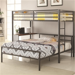 Fisher Twin Full Metal Workstation Loft Bed by Coaster - 460229-SET