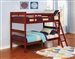 Parker Twin Twin Bunk Bed in Chestnut Finish by Coaster - 460231