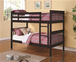 Chapman Twin Twin Bunk Bed in Black Finish by Coaster - 460234