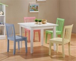 5 Piece Multicolor Table Set by Coaster - 460235