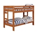 Wrangle Hill Twin Over Twin Bunk Bed in Amber Wash Finish by Coaster - 460243