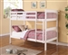 Twin Twin Bunk Bed in White Finish by Coaster - 460244