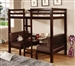 Twin/Twin Convertible Loft Bed in Cappuccino Finish by Coaster - 460263