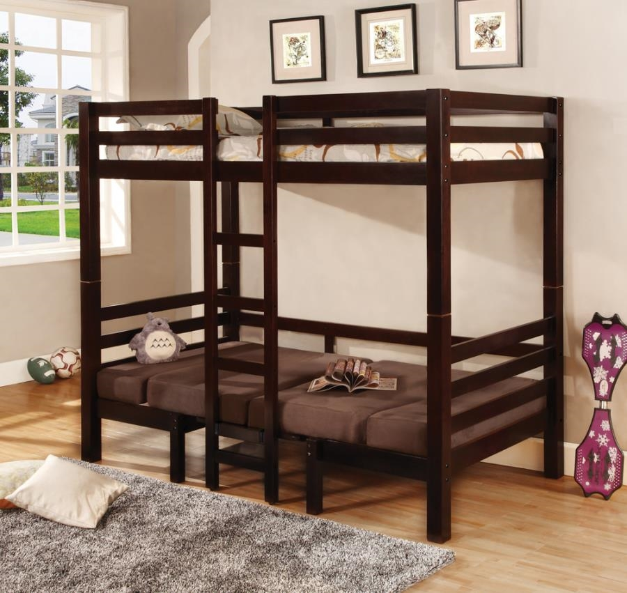 Twin/Twin Convertible Loft Bed in Cappuccino Finish by Coaster