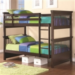 Miles Twin Twin Bunk Bed in Cappuccino Finish by Coaster - 460266