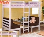 Twin/Twin Convertible Loft Bed in White Finish by Coaster - 460273