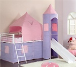 Castle Styled Twin Loft Bed by Coaster - 460279
