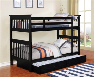 Chapman Full Full Bunk Bed in Black Finish by Coaster - 460359