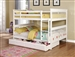 Chapman Full Full Bunk Bed in White Finish by Coaster - 460360