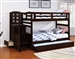 Dublin Twin Bunk Bed in Cappuccino Finish by Coaster - 460362