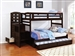 Dublin Twin Over Full Bunk Bed in Cappuccino Finish by Coaster - 460366