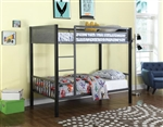 Meyers Twin Twin Bunk Bed in Black and Gunmetal Finish by Coaster - 460390
