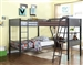 Meyers Triple Twin Bunk Workstation Loft Bed in Black and Gunmetal Finish by Coaster - 460390-L