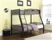 Meyers Twin Full Bunk Bed in Black and Gunmetal Finish by Coaster - 460391