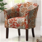 Accent Chair in Floral Pattern Fabric by Coaster - 460407